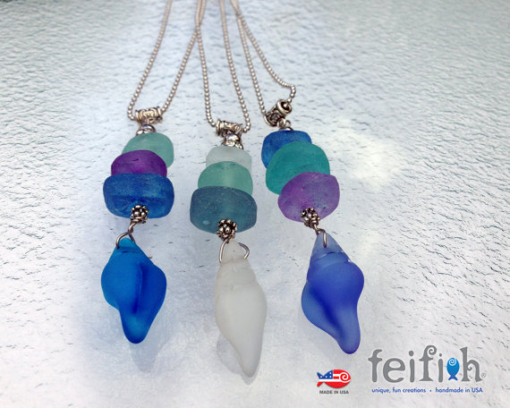 Feifish Imbre Recycled Bead Necklaces
