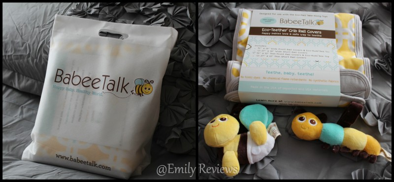 Babee Talk ~ Eco-Teether Crib Rail Cover & Toys
