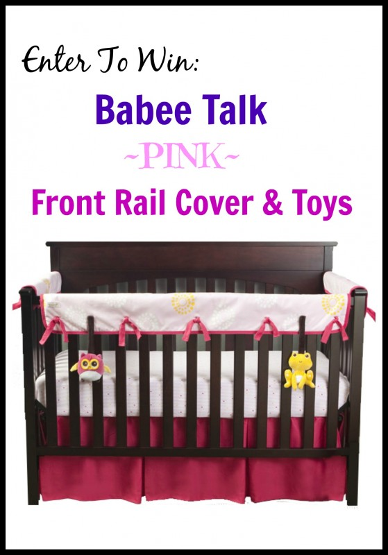 Babee Talk giveaway ~ Babee Talk ~ Eco-Teether Crib Rail Cover & Toys