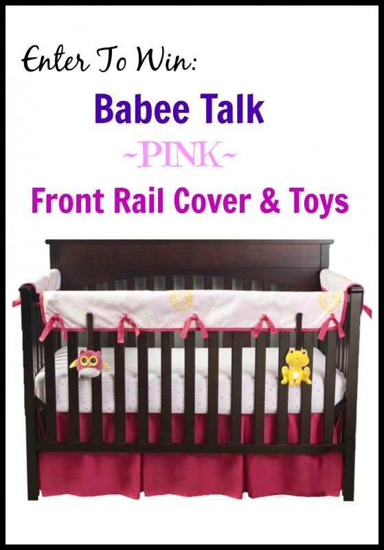 Babee Talk giveaway ~ Babee Talk ~ Eco-Teether Crib Rail Cover & Toys