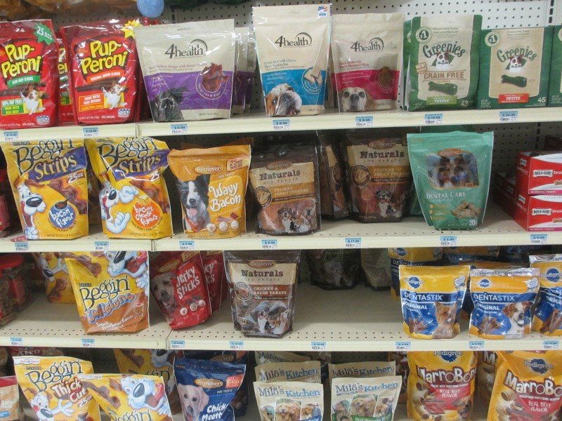 TSC dog treats aisle
