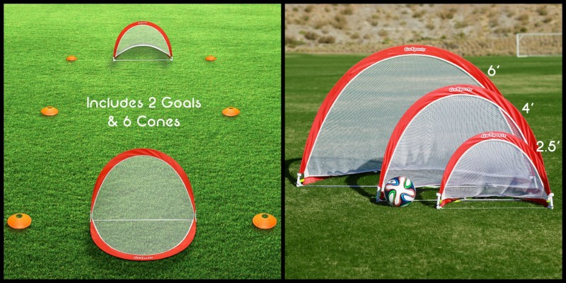 34d4253d9 GoSports ~ Portable Pop-Up Soccer Goals With Cones & Case | Emily ...