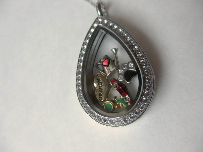 silver jewelry lockets sterling pendant heart teardrop memorial limoges