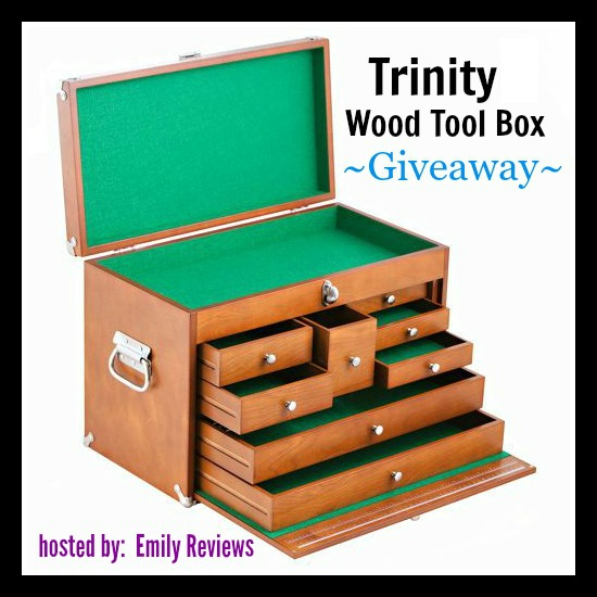 Trinity International Wood Tool Box Giveaway #Father's Day Gift Guide Idea