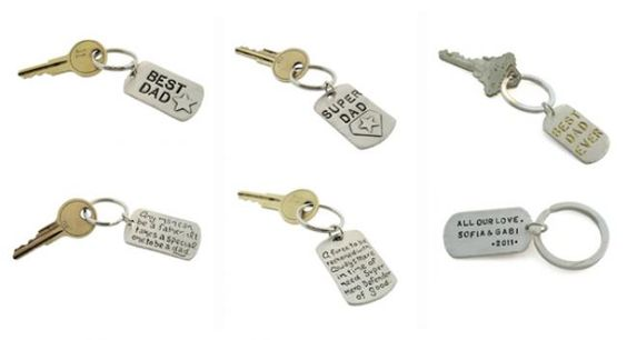 Isabelle Grace Dad Keychains ~ Perfect gift idea for dads on Father's Day