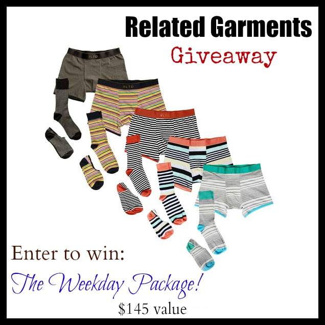 Related Garments Giveaway~ The Weekday Package $145 value. Related Garments ~ Style Up The Men In Your Life