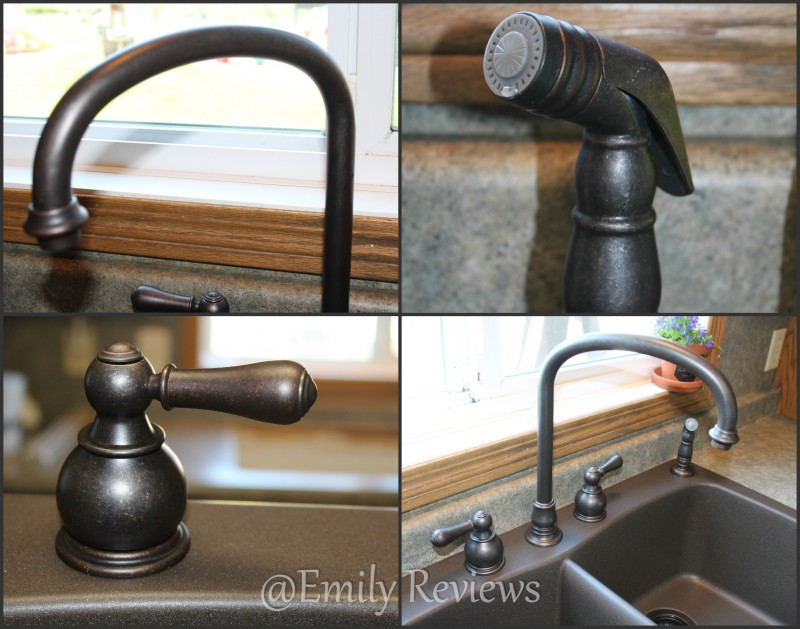American Standard Hampton 2 Handle High Arc Kitchen Faucet With Side Sprayer