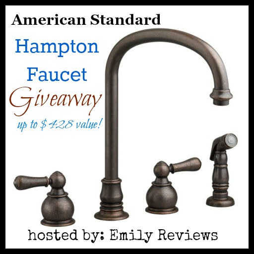 American Standard Hampton 2 Handle High Arc W/Kitchen Sprayer Faucet  Giveaway (value Of