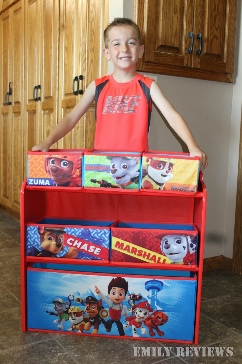 Paw Patrol Toy Organizer Bin Cubby Kids Child Storage Box: Delta Children PAW Patrol Multi-Bin Toy Organizer {Review