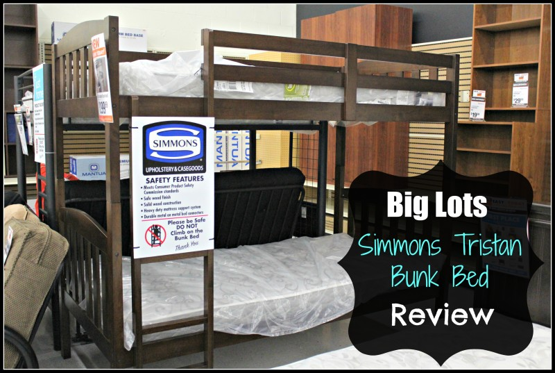 Big Lots Simmons Tristan Bunk Bed Zeopedia Memory Foam Mattress