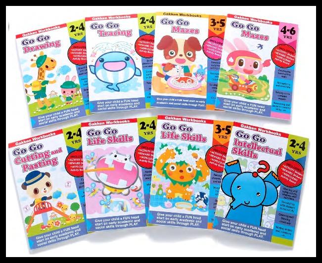 Gakken's Go Go Series Activity Workbooks For 2-5 Year Olds ...