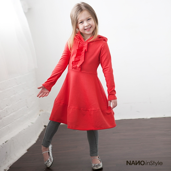 Nano Kids Clothes {Christmas Staple!} ~ Cool, Contemporary Styles that look great, feel good, and last a long time! ~ Adorable matching hooded girls dresses.