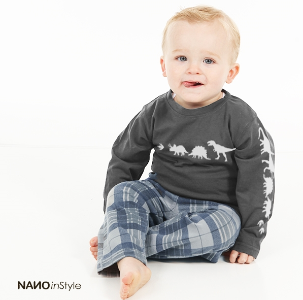 Nano Kids Clothes {Christmas Staple!} ~ Cool, Contemporary Styles that look great, feel good, and last a long time! ~ Walk Like A Dino Boys Top