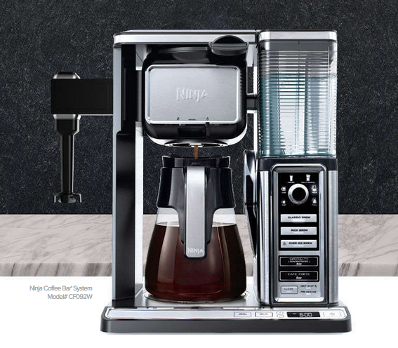 Ninja Kitchen Coffee Bar System: http://www.ninjakitchen.com/brewing/ninja-coffee-bar-system/