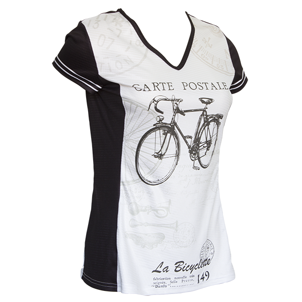 Retro 2 Ride : Carte Postale Women's Tech Tee Short Sleeve