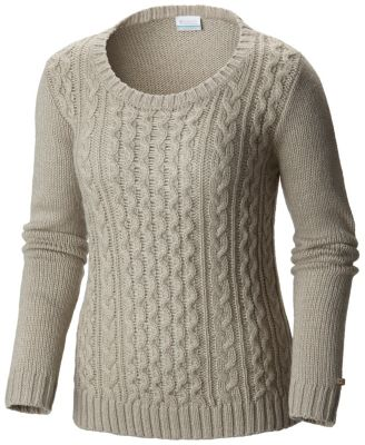Columbia cable-knit sweater