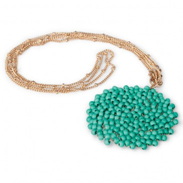 Turquoise Medallion Necklace ~ World Vision Gift Catalog : Give the gift of love, help, and life.