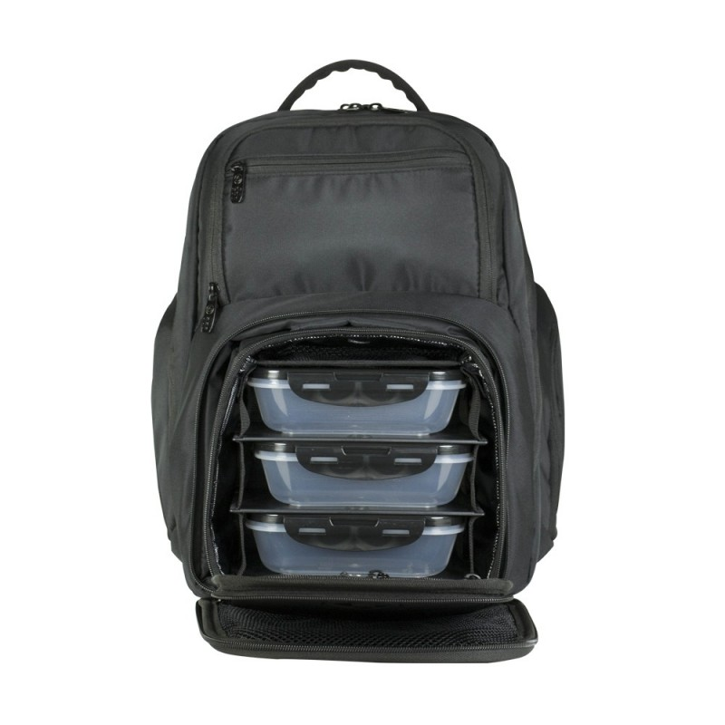 "Six Pack Bags Expedition Backpack 300 ~ The Expedition Backpack offers total meal management capabilities while storing gear for the gym and technology for the office. Features a fleece-lined technology compartment for laptops/tablets up to 15"" and a fleece-lined pocket to protect sunglasses and other eyewear."