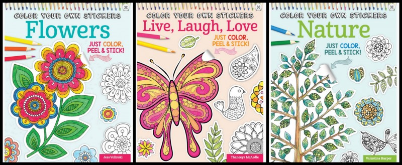Fox Chapel Publishing Color Your Own Stickers Coloring Book