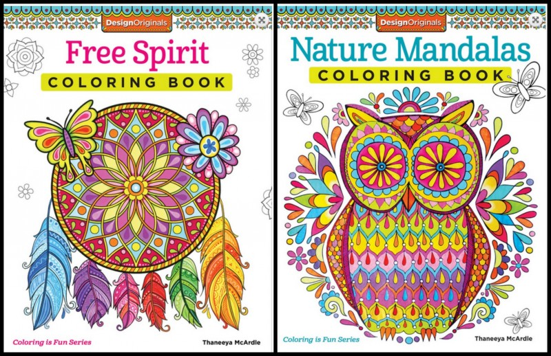 Fox Chapel Publishing Adult Coloring Books - Natural Mandalas and Free Spirit
