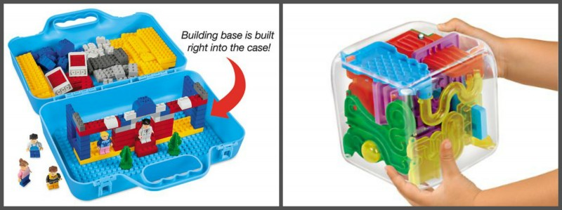 Lakeshore Learning Boys Holiday Gift Guide ideas: ~Play & Store Building Brick Set #GG497 ~ The Maze Cube #GG758