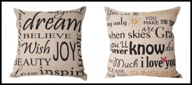 "Sullivan Entertainment - Decorative Pillows ""You are my sunshine and Joy"""