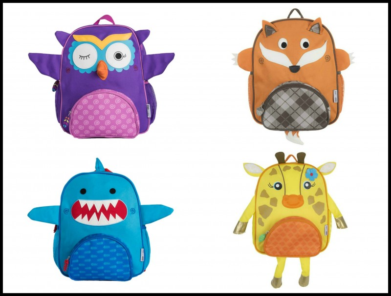 zoocchini children's 3d backpacks - these fun bags come in a variety of whimsical characters such as fox, shar, owl, girraffe, dino, and more