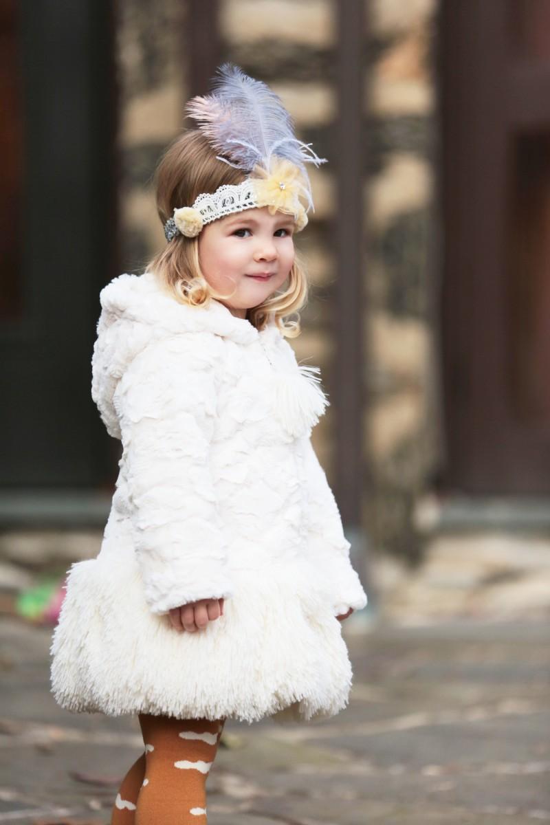 American Widgeon Kids ~ Hooded Pompom Coat