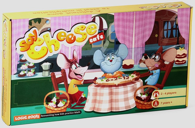 Logic Roots ~ SAY CHEESE CAFÉ Multiplication tables game STEM toy Math manipulative gift for 7 years and up