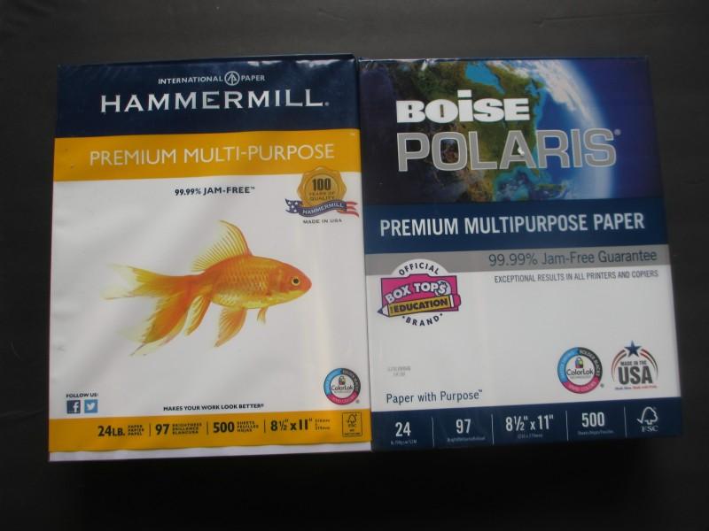 Boise paper comparison