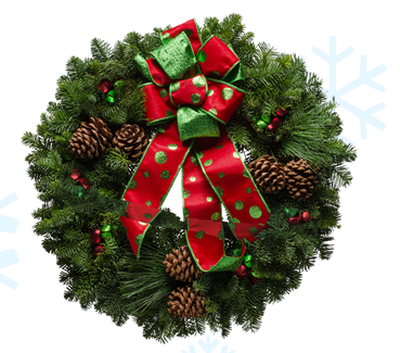 "Christmas Forest ~ Live Wreaths (20"" Polka Dot Frenzy)"