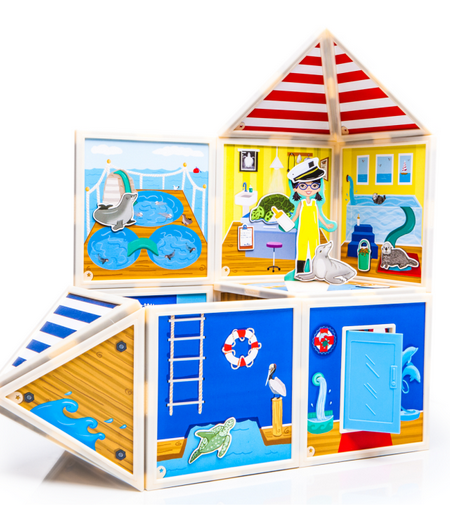 Build & Imagine ~ Marine Rescue Center Build a Scene and Imagine Countless Stories! Magnetic story boards.