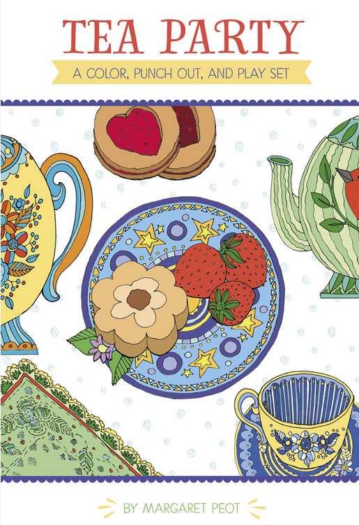 Pomegranate ~ Tea Party: A Color, Punch Out, and Play Set