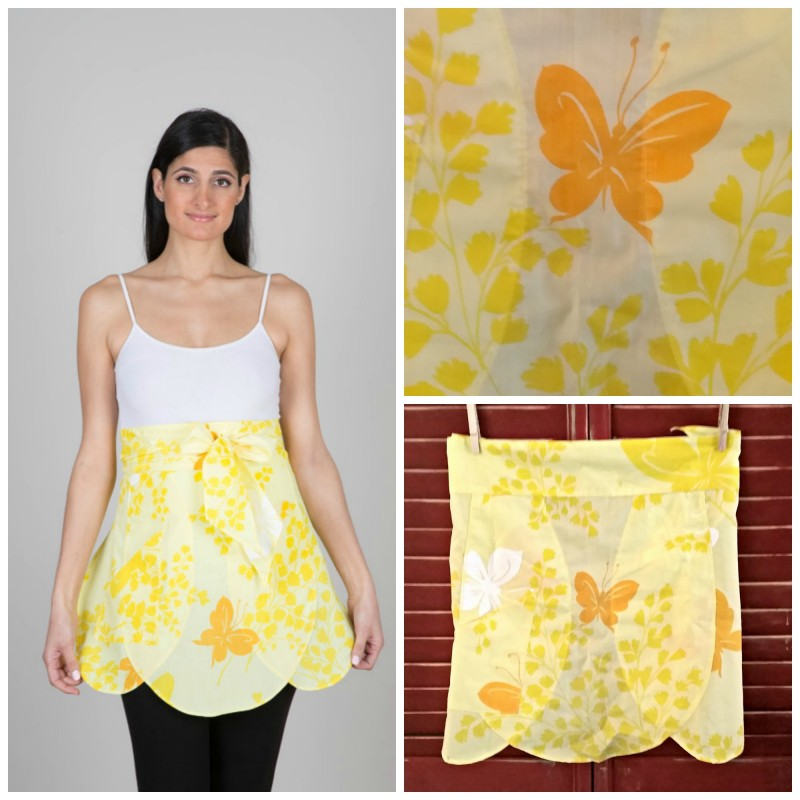 Thimble and Bodkin Yellow Waist Apron