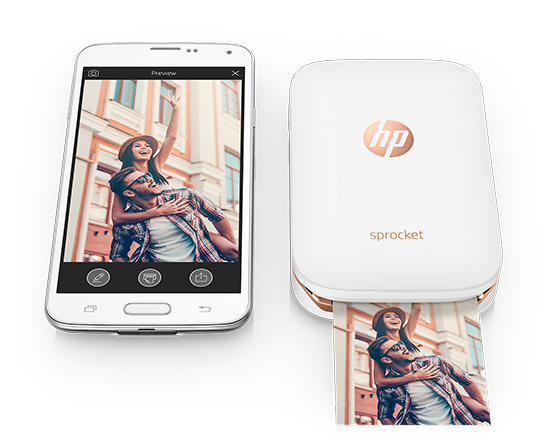HP sprocket smartphone printer