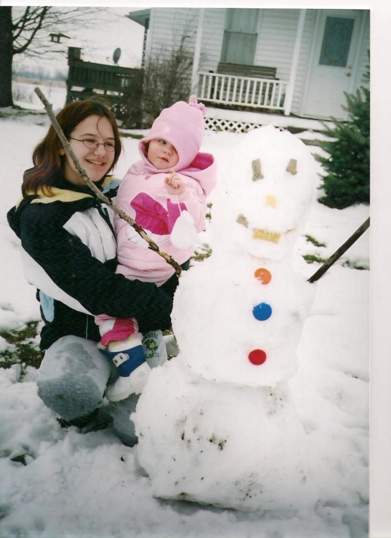 Snowman with jorden