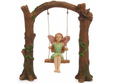 Fairy garden arch swing