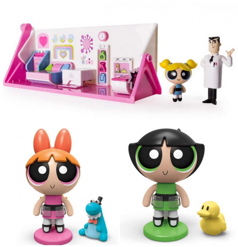 The Powerpuff Girls Action Figures and Flip Action Bedroom and Laboratory