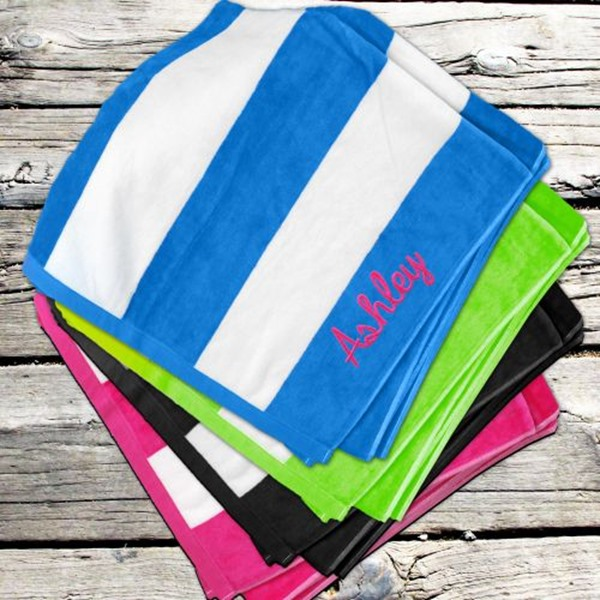Simply Personalized beach towel