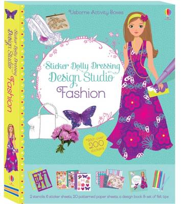 Usborne books STICKER DOLLY DRESSING DESIGN STUDIO FASHION
