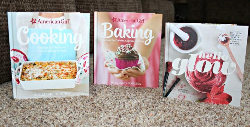 American Girl Baking, American Girl Cooking, & Hello Glow Book