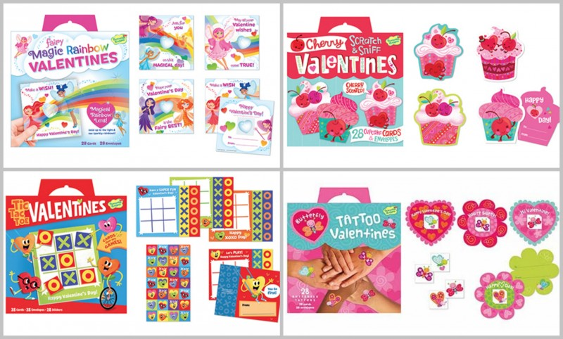 Peaceable Kingdom ~ Get Ready For Valentine's Day With A Fun Box Of Valentines For The Whole Class! ~ Unique and Fun: Tattoos, Pencil Toppers, Rainbow Lenses, Cat & Dog Stickers, Tic Tac Toe Cards, Scratch & Sniff Cards, & More