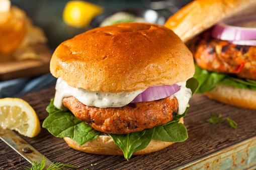 Nutrisystem salmon-burger