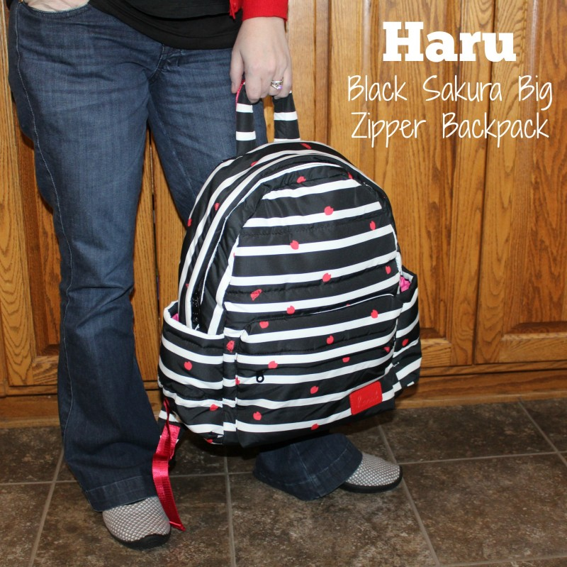 haruhonpo usa black sakura big zipper backpack doubles as a diaper bag emily reviews. Black Bedroom Furniture Sets. Home Design Ideas