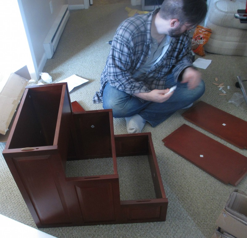 Solvit dog stairs assembly