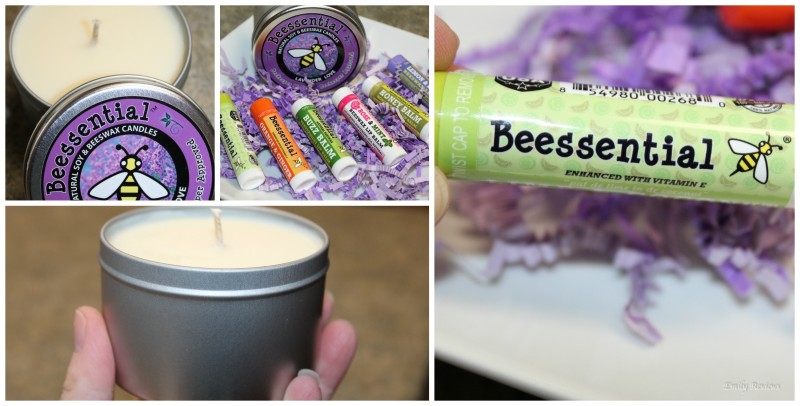 Beessential ~ An Essential Easter Basket Stuffer & Hostess Gift Idea! Natural Lip Balms and Lavender Scented Wax Candle {Emily Reviews}