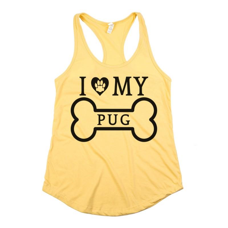 I love my pug animal heareted