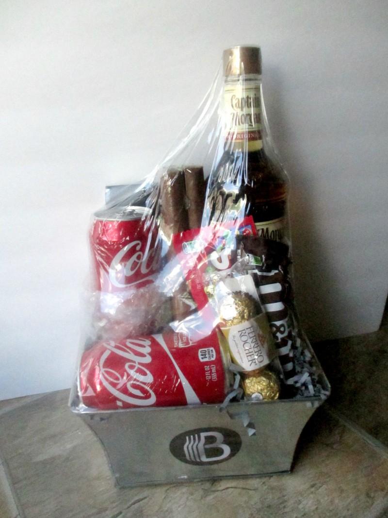 Rum and Coke bro basket customized
