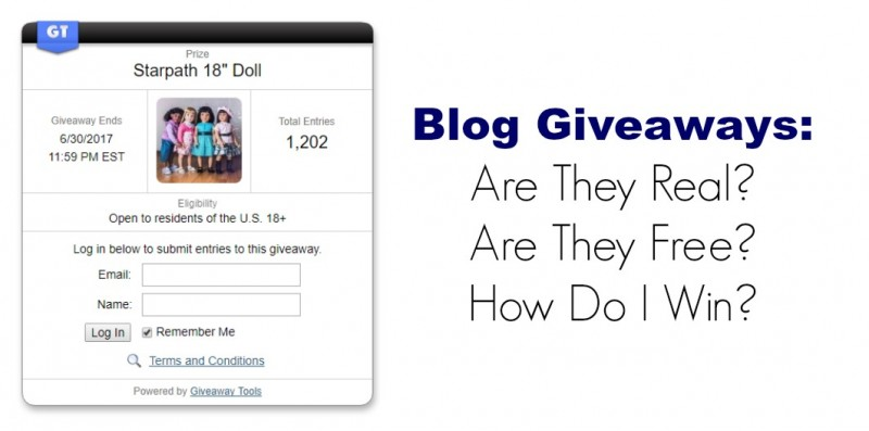 Blog giveaways - are they real or a scam? Are they free? How to win free prizes?