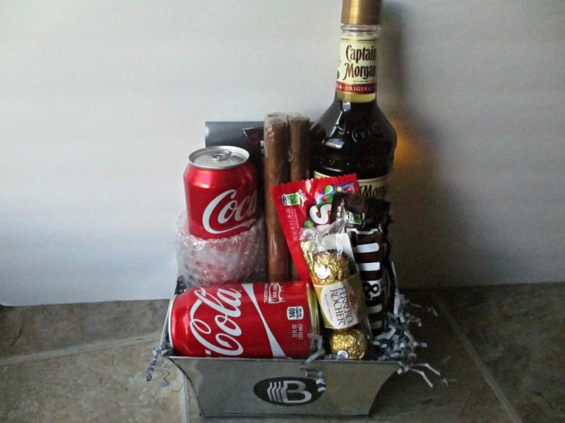 bro basket rum and coke gift basket customized